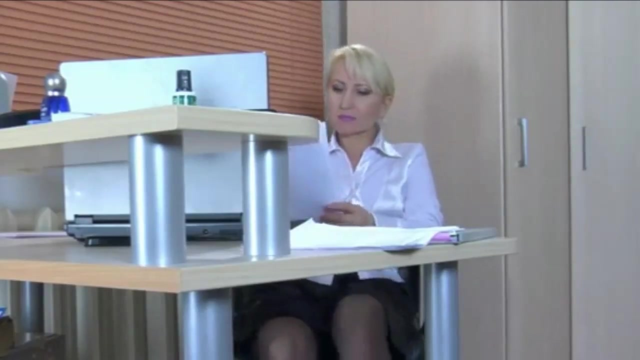 Pretty blonde MILF secretary in stockings needs a junior cock guyana girls ass nude