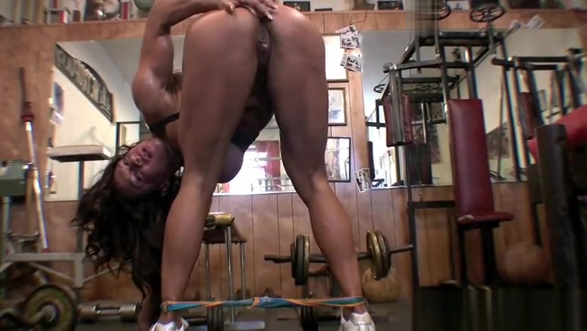 Fbb sweaty workout body seducing pervert with filthy talk