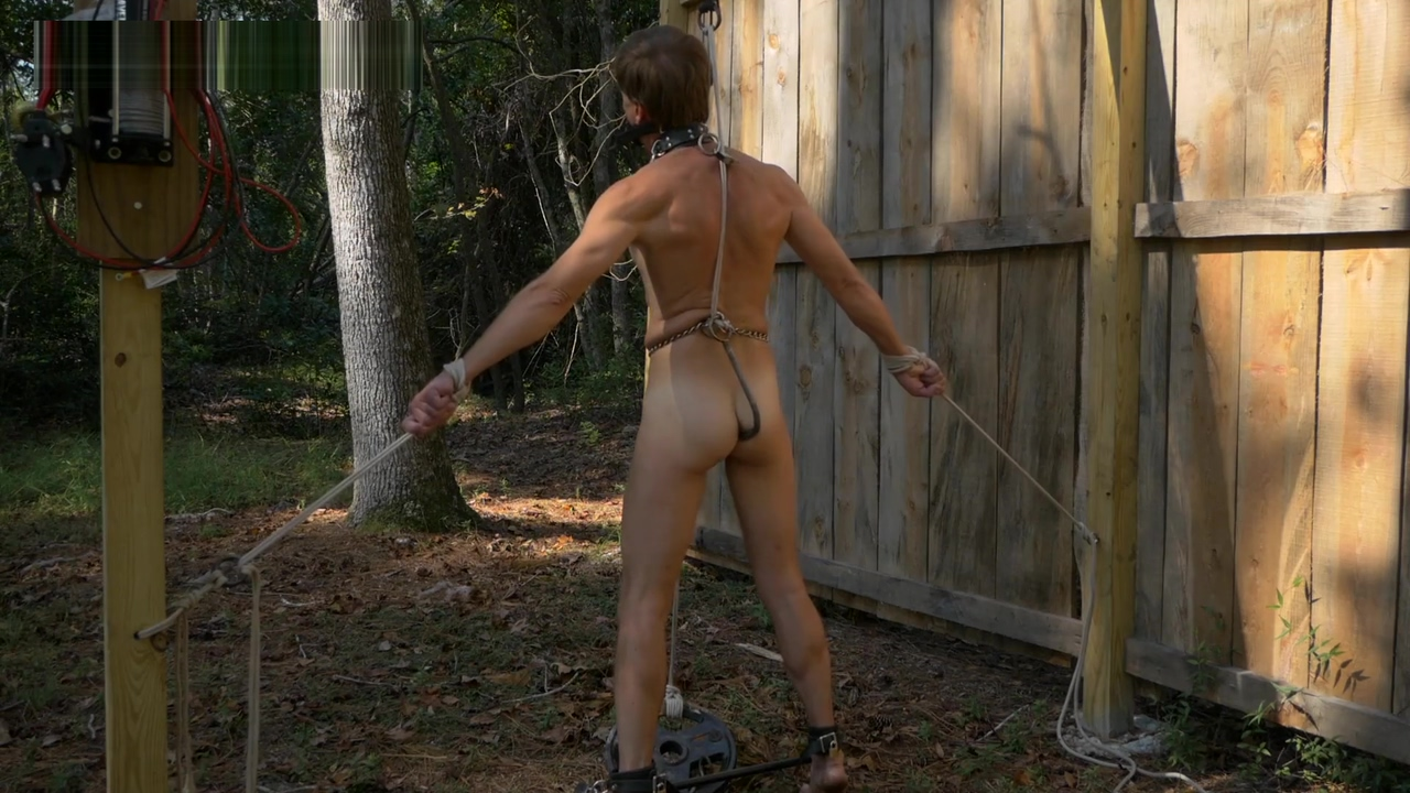 Anal Hooked Self Bondage Cap d agde nude naked nudist party