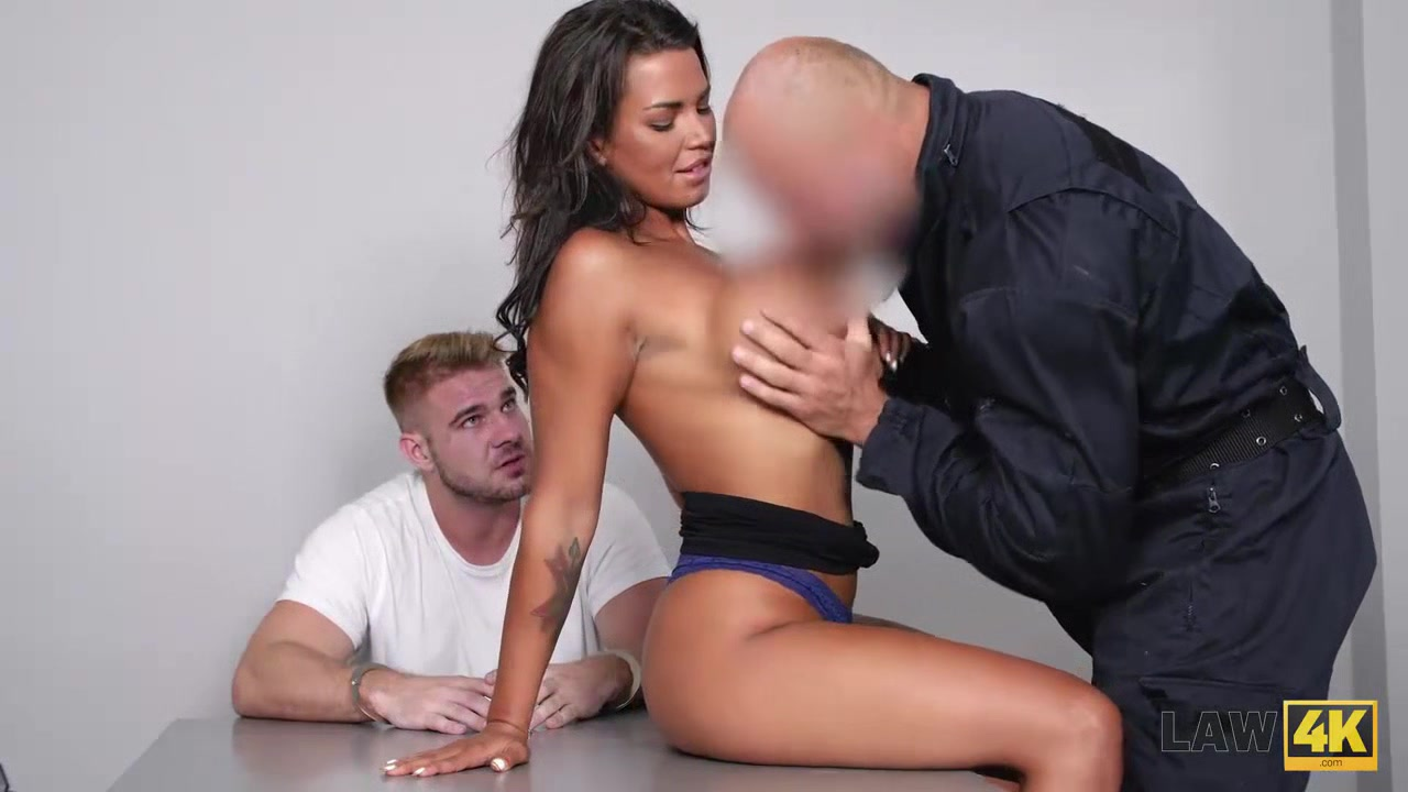LAW4k. Busty brunette Chloe Lamur pays her boyfriends debt with her body Dating site zo ngaih today