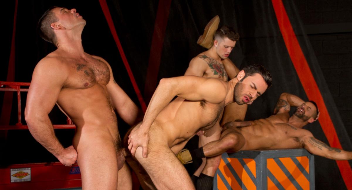 Dario Beck & David Benjamin & Derek Atlas & Sebastian Kross in Clusterfuck! Video Sexy pushy