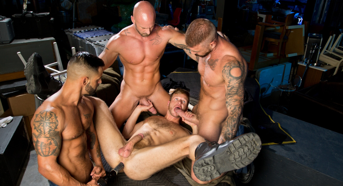 Mitch Vaughn & Brian Bonds & David Benjamin & Rocco Steele in Guard Patrol Video phantom of the opera fantasy porn