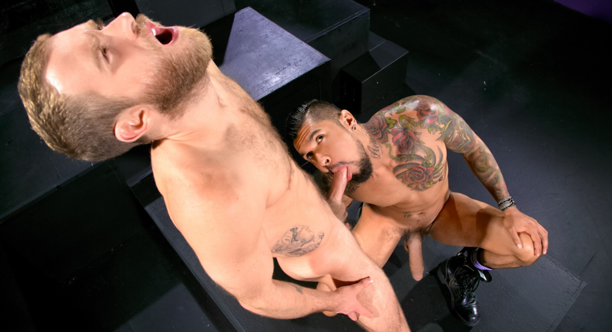 Shawn Wolfe & Boomer Banks in Into Darkness Video Milf cums on bbc