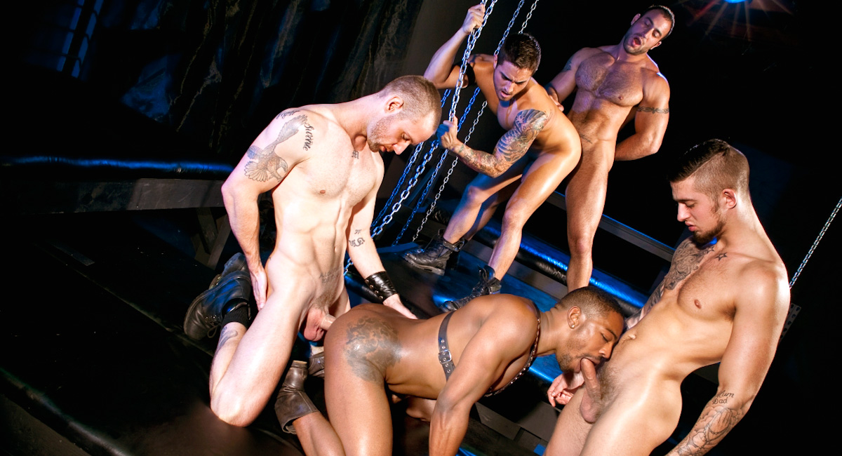Mathew Mason & Troy Haydon & Spencer Reed & Bryce Star & Colin Black in Fucked Down - Five Man Orgy Part 02 Naked girls humping girl