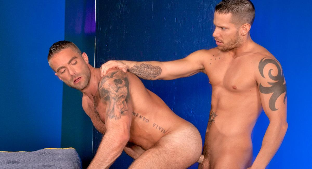 Jake Genesis & Shane Frost in Powerload, Scene #01 Ebony Piss Tube