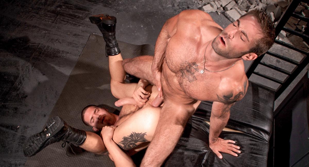 Ty Roderick & Jake Genesis in Cock Shot, Scene #02 Men in navy