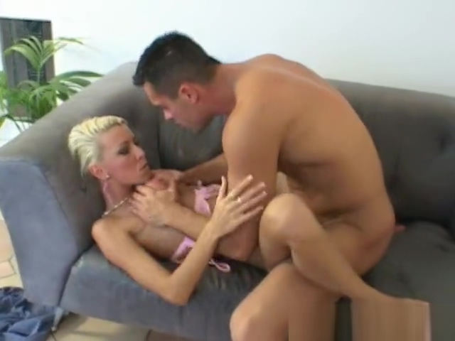 Nikky Blond Fucked on a Couch