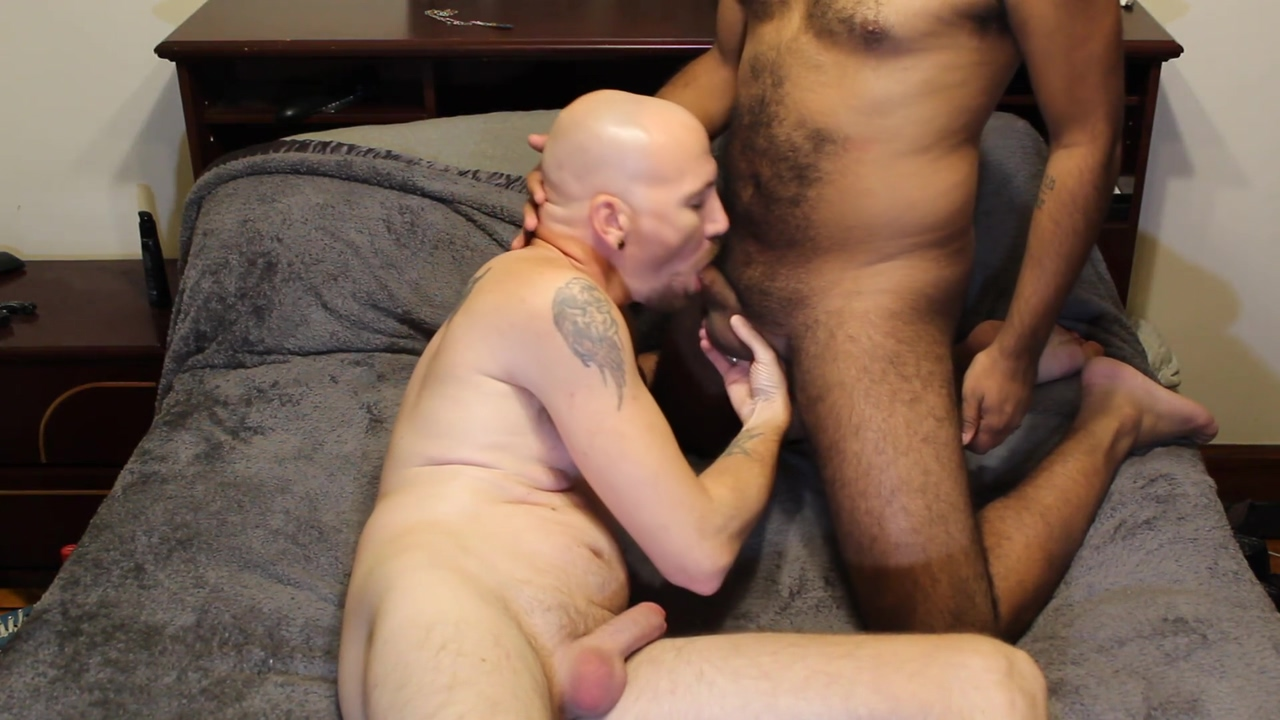 Interracial Couple with Blow Jobs Rimming and Jerking Naked boobs eyes