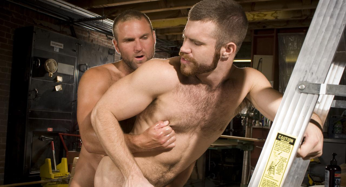 Tom Wolfe & Trent Locke in Woodshop, Scene #01 Mature blowjob home videos