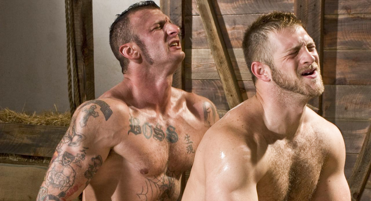Ricky Sinz & Paul Wagner in Roll In The Hay, Scene #03 the biggest cameltoe pussy