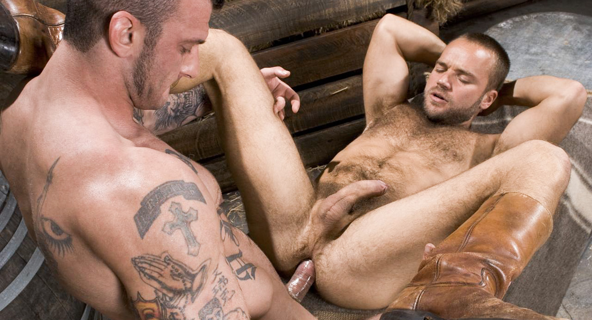 Ricky Sinz & David Novak in Roll In The Hay, Scene #06 Amazeling huge tits