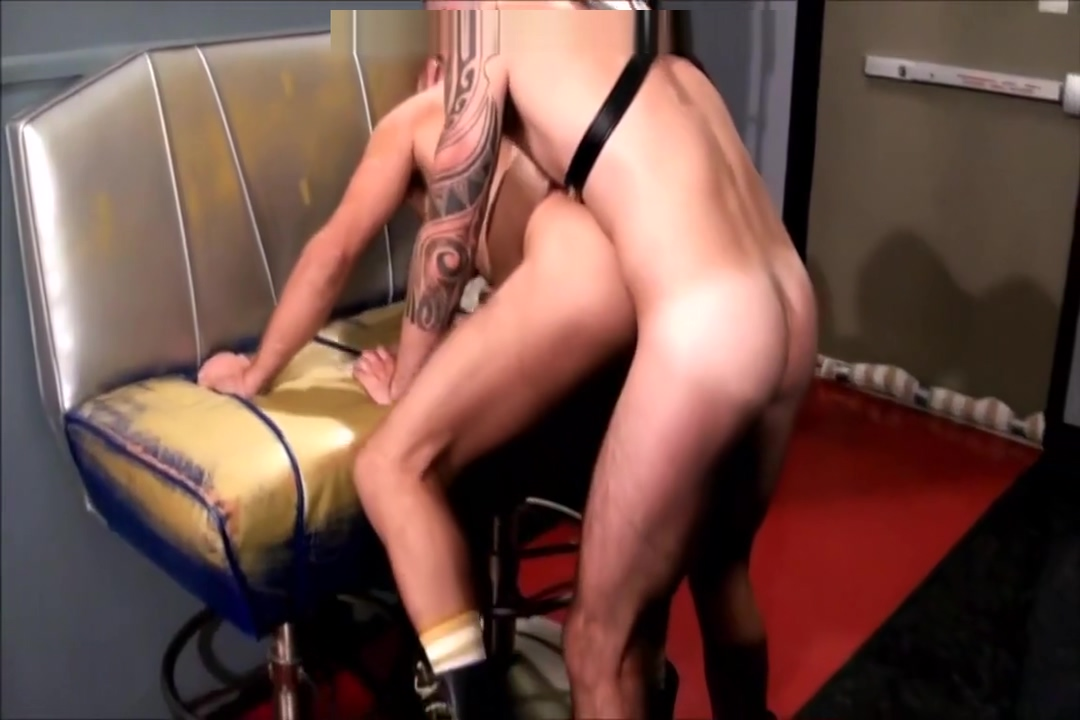 Leather bareback fuck wife in g string