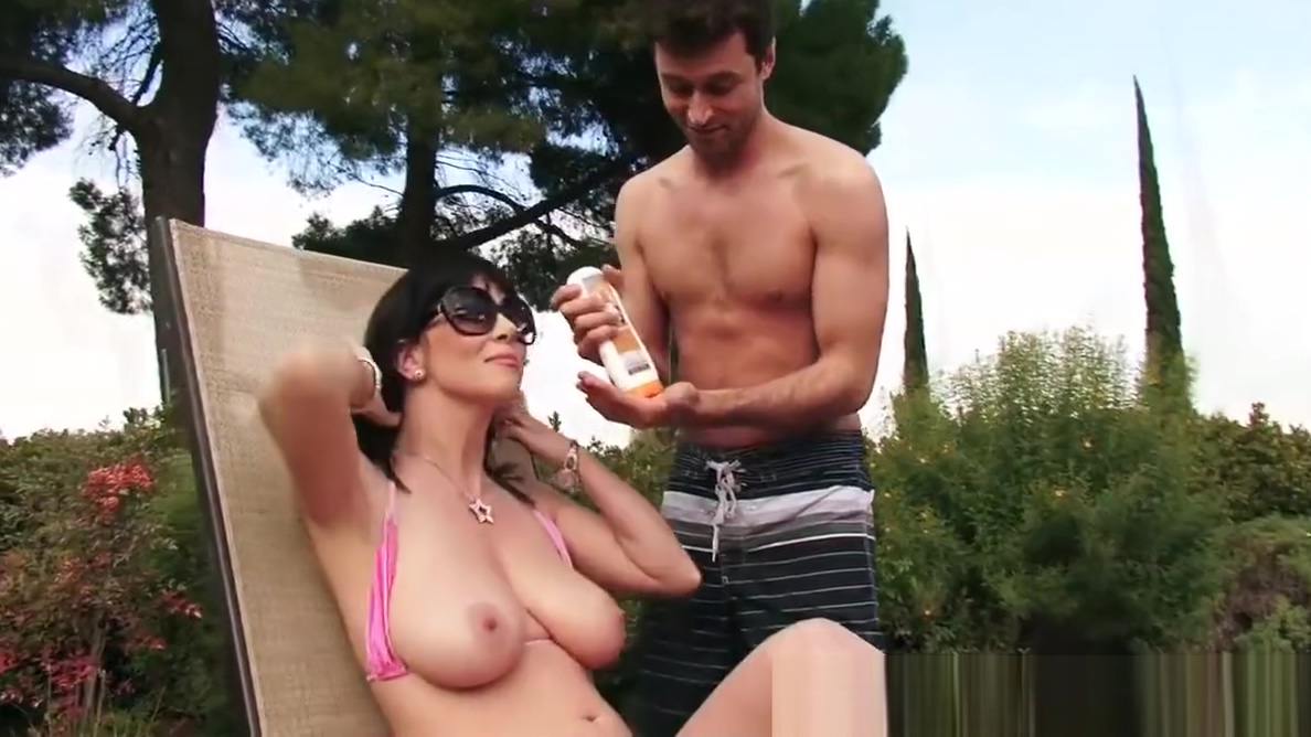 Brazzers - Mommy Got Boobs - Backyard Boobies scene starring bi married wives 1st fuck video
