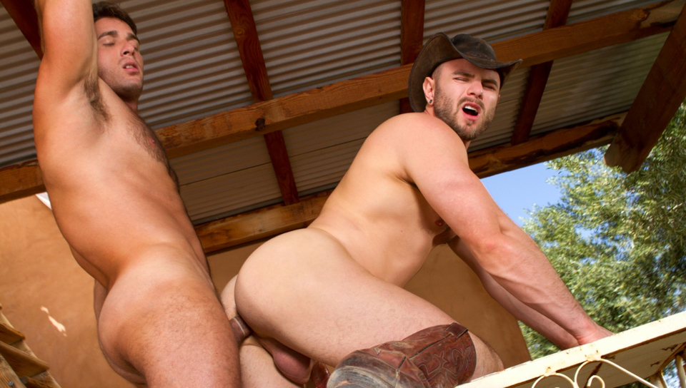Sidewinder XXX Video: Nick Sterling, Armando De Armas fantasy naked knife throwing