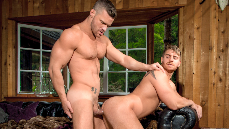 Buck Naked XXX Video: Landon Conrad, Logan Vaughn Rosie perez the take sex scene