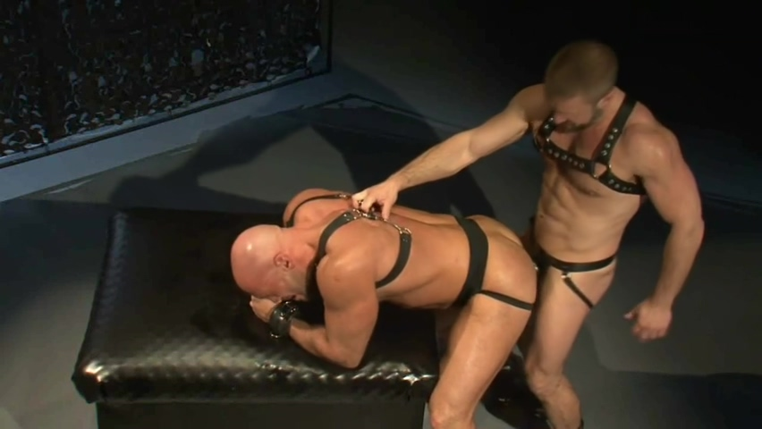 Nasty Leather sex with hands tied
