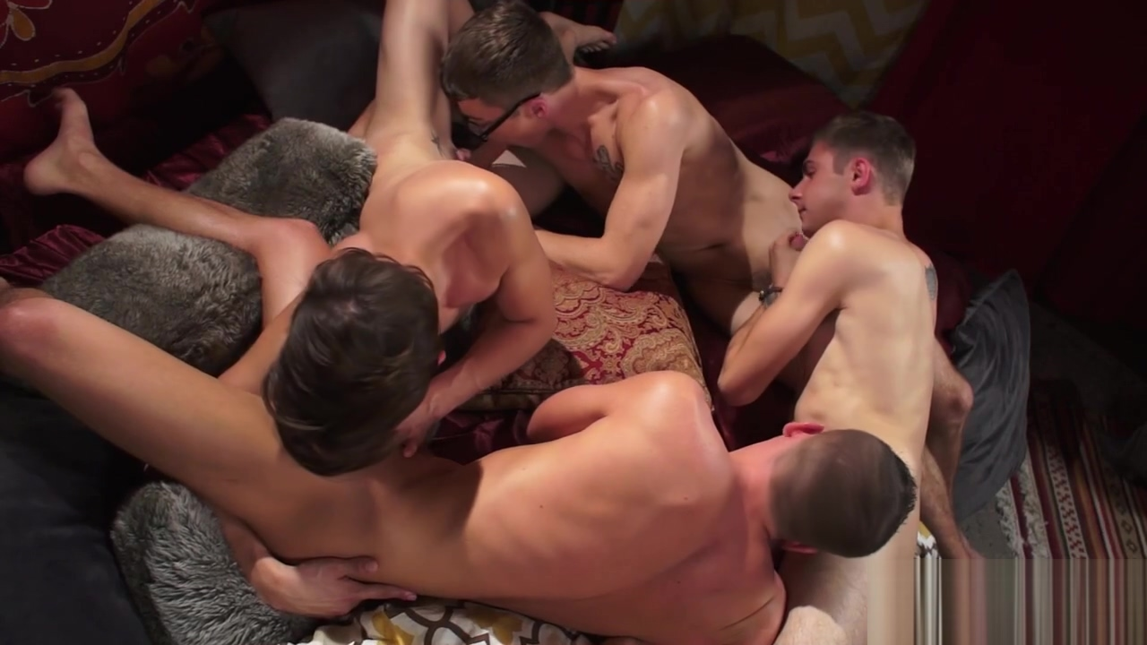 Andy, Kody, Brad And Blakes Orgy Naked women's tits close up