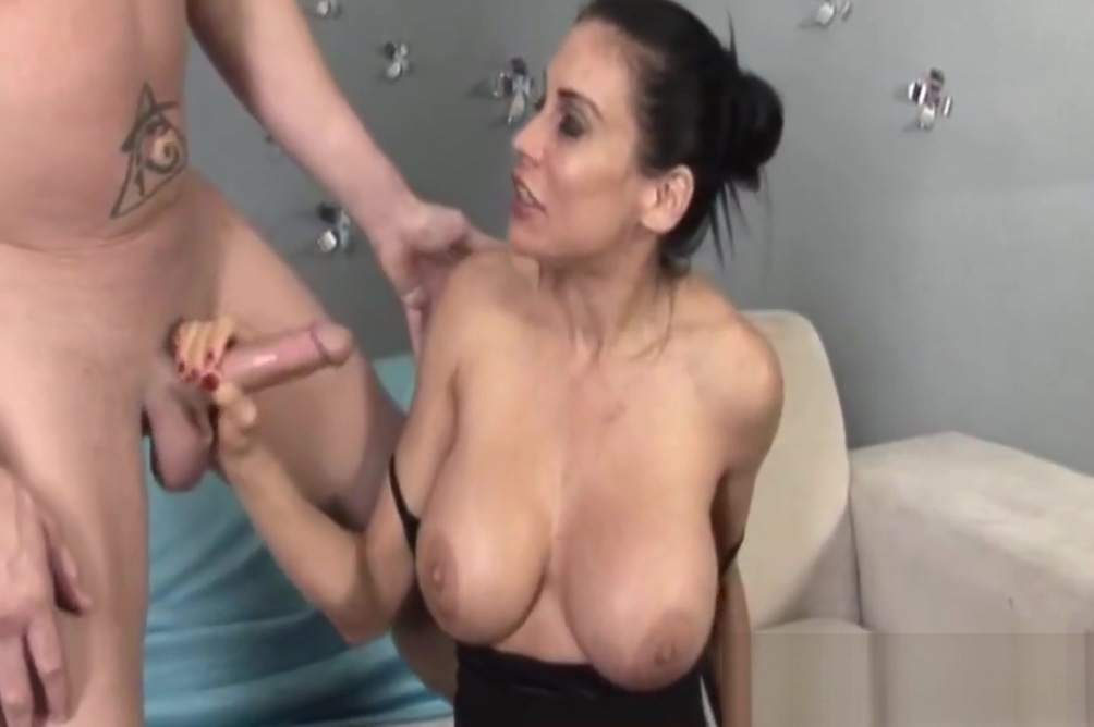 Bigtitted milf jerking on dick after teasing Nighty in aunty ass