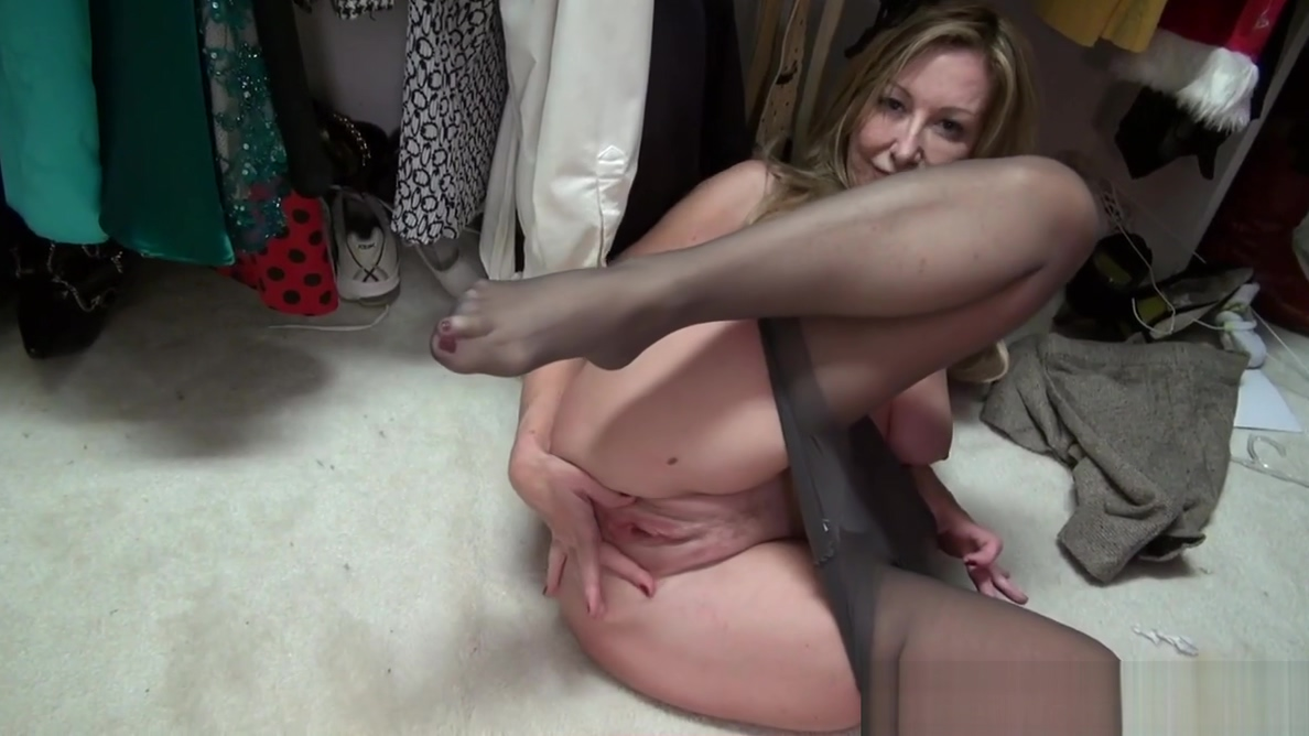 American milf Sally Steel gets naughty in nylon Wife slut cuckold