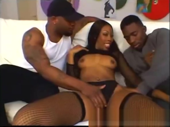 Ebony slut Ashley Foxxx gets dped hot gay free video