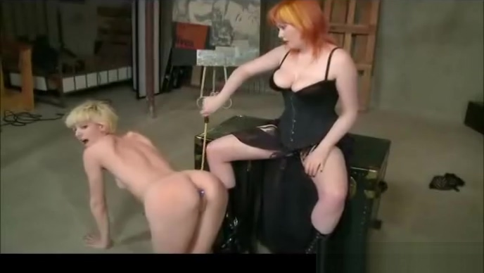 Lesbian Spanking And Strap On Home made penis plug