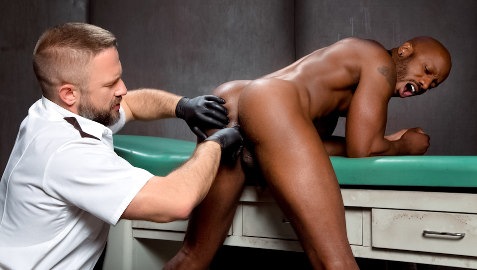 The Trustees featuring Race Cooper, Dirk Caber Holding her firmly and digging her pussy deep