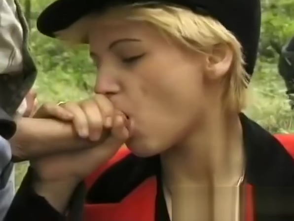 double penetration in the forest Sex slave queen