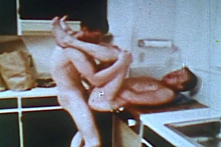 VintageGayLoops Video: Hot in the Kitchen satin robe sex video