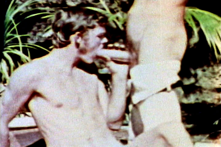 VintageGayLoops Video: John Holmes: First Gay Scene Large giant biggest anal butt toys
