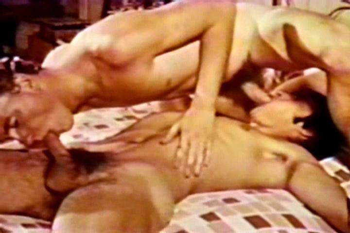 VintageGayLoops Video: Eye Ballin gay big dick threesome facial cum fuck tubes