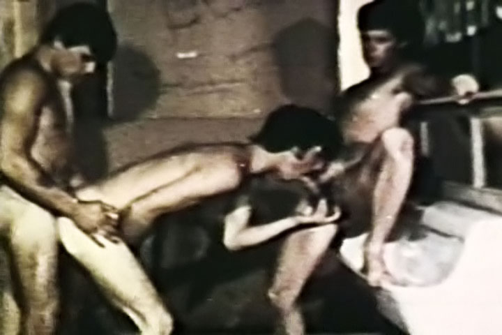 VintageGayLoops Video: Straight Throat penis hurts during sex