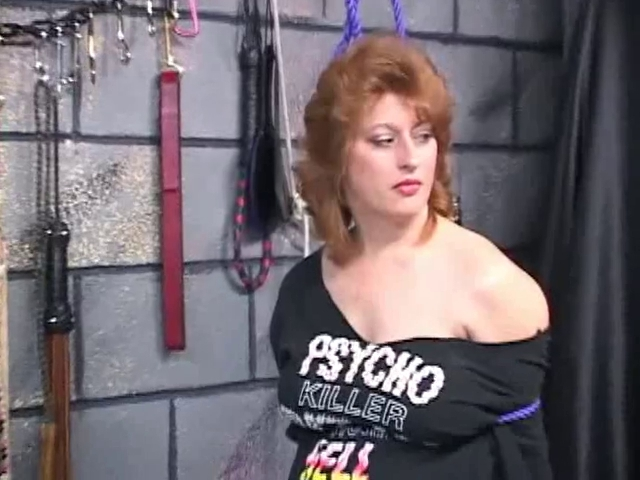 Thick brunette hair s&m bondman receives ropes around her neck and lots of anguish Best sexy tattoo