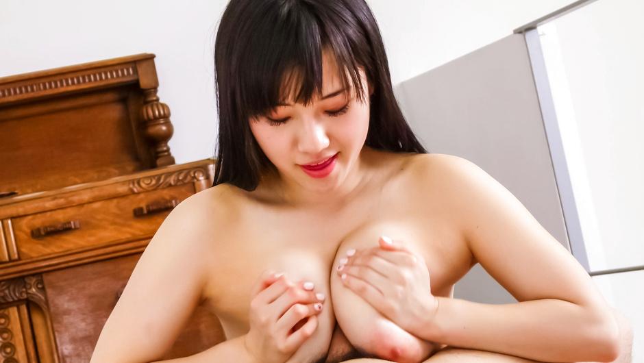 Curvy japanese milf titty fuck and creampie