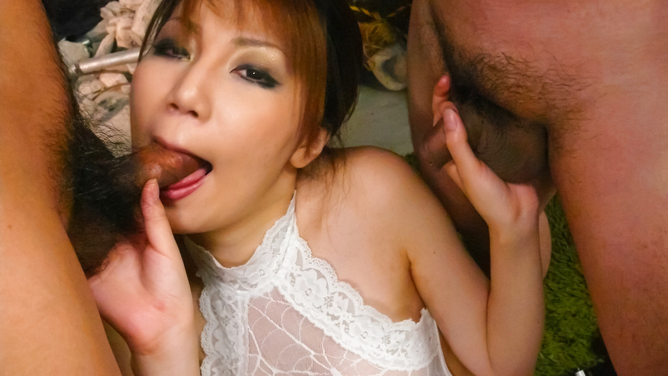 Horny Japanese chick Yuria Kano in Best JAV uncensored Blowjob scene Huge cock in ebony pussy