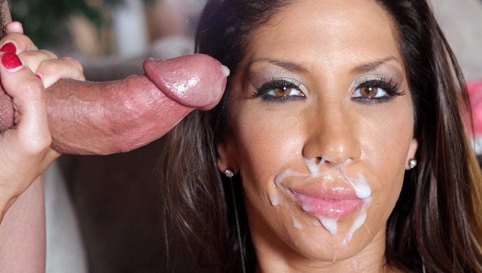 Busty babe kayla carrera covered in sperm loads