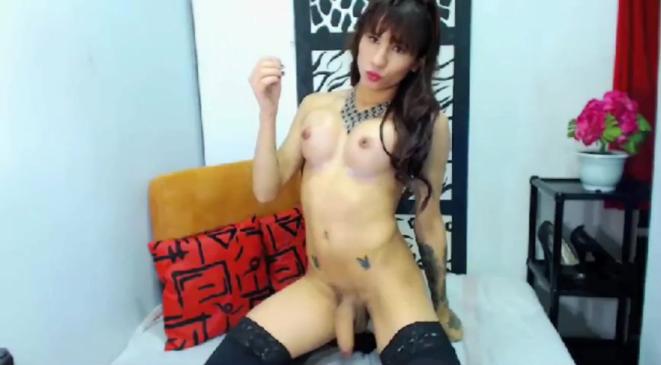 Sexy TS Jerks and Blows Big Load on Cam poses de sexo kamasutra