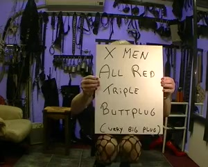 first time on the X MEN TRIPLE BUTTPLUG bigger then B52 Horny Amateur Toys porn clip