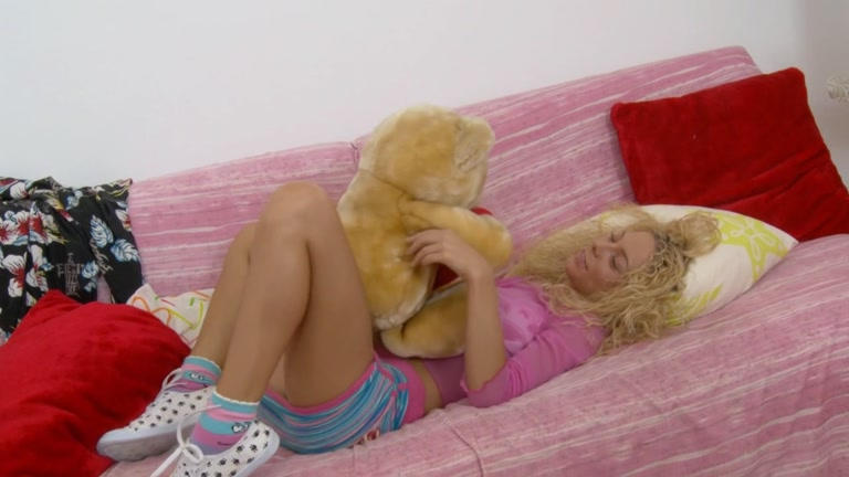 Awesome blond plays with vibrator and ramrod Bdsm orgasm compilation