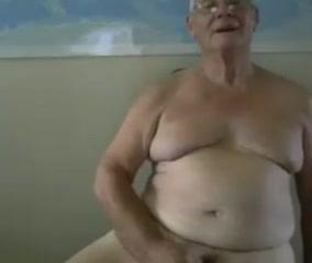 grandpa stroke on cam (no cum) Corset self bondage