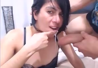 Deepthroating big cock and getting fucked in the ass