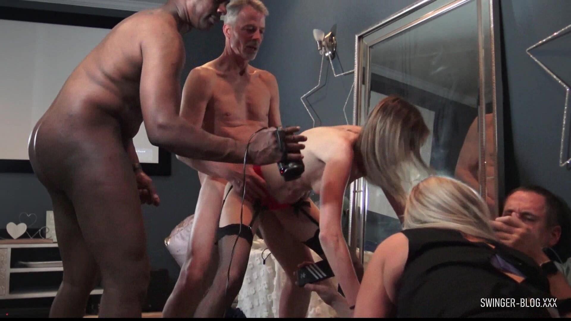 MILFs Enjoying Cocks In Homemade Swinger Group Sex Video