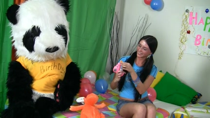 Sexy sex as a B-day present for Panda hot disabled bitches nude