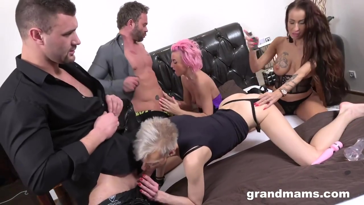 A Group Of Horny Grannies