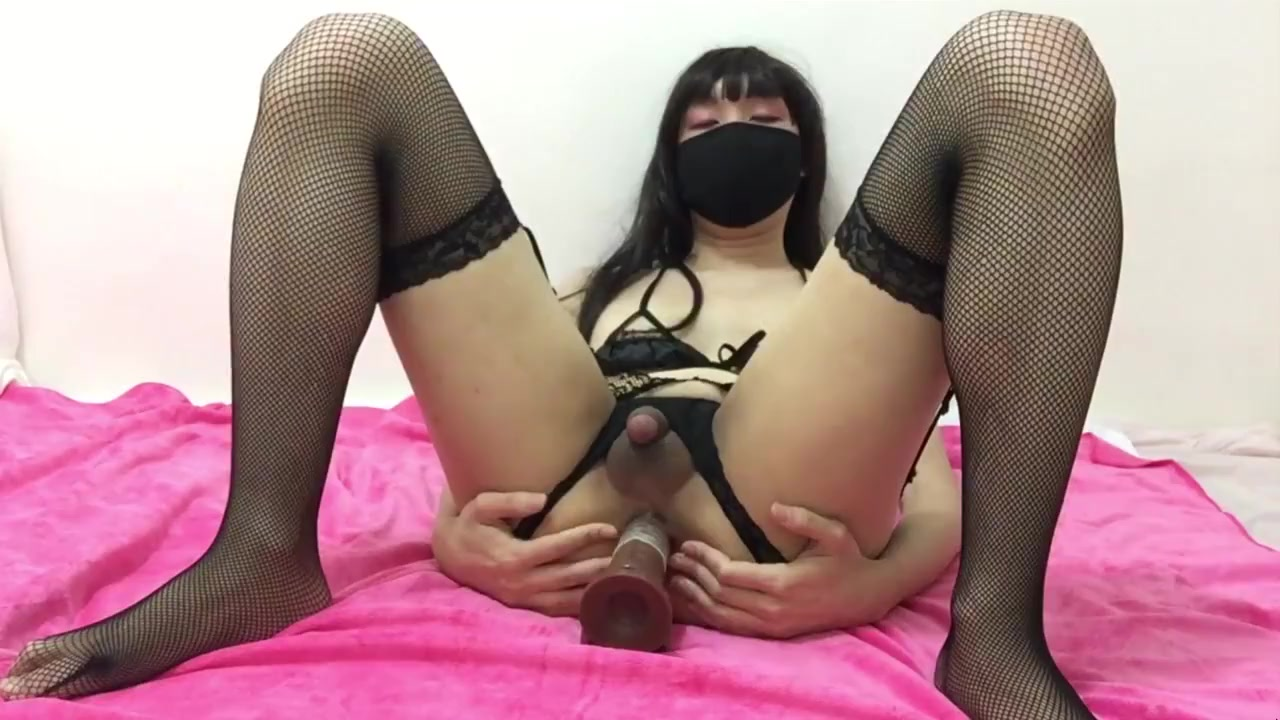Black lingerie and black cock (Crossdresser with toy) Megan murray mason raymond wife sexual dysfunction