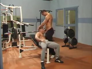 Muscle Men At Gym Sister pees pants in front of her brother