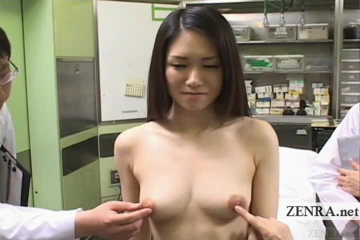 Subtitled ENF CMNF Japanese medical breast examination My girlfriends cock