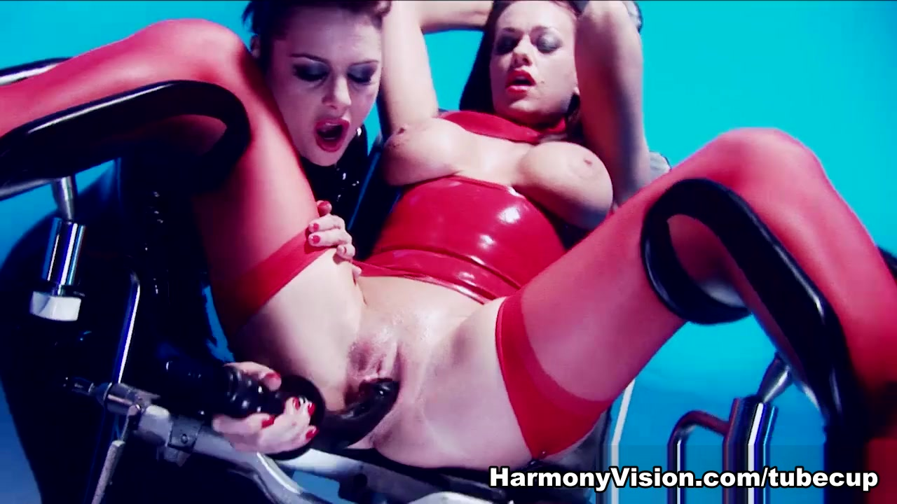 Paige Ashley in Latex Lesbian Lust - HarmonyVision Cock ball pillory femdom