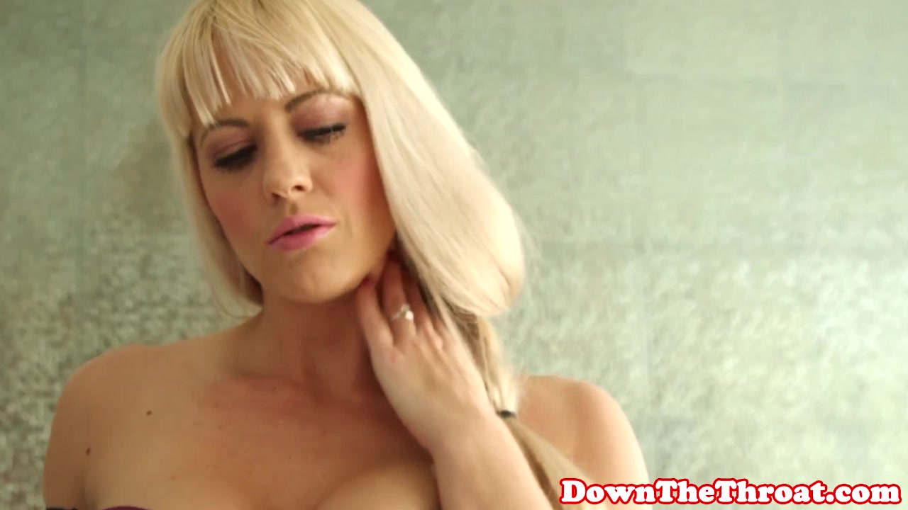 Busty babe deepthroats before facial sell your porn video