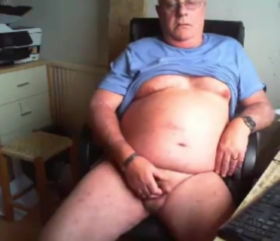 grandpa stroke on cam (no cum) 2 Diaper pulled down spank