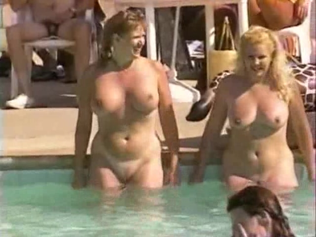 Mature pool party sex